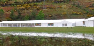 Marquee hire for Loch Fyne Food Fair outdoor event in Argyll