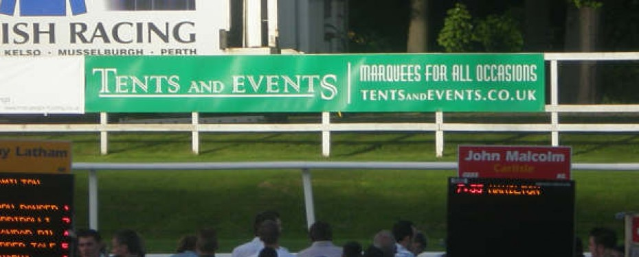 Tents and Events at Hamilton Park Racecourse