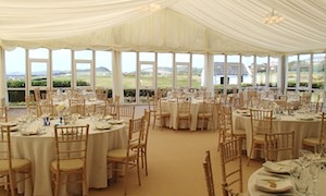 Marquee hire for family weddings with 120 to 130 guests