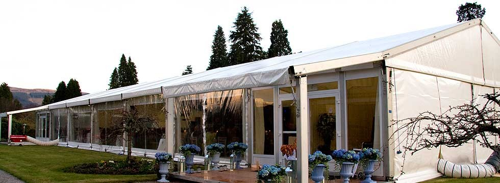 Wedding marquee hire in Scotland