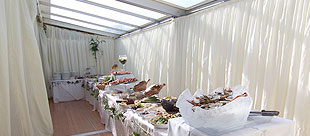 Bars and buffets for corporate marquee events