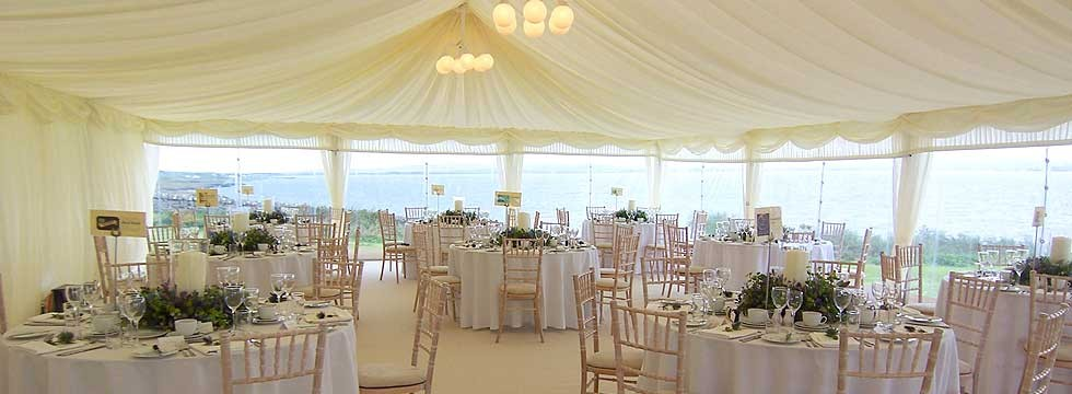 Wedding marquee interiors from Tents and Events