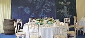 Corporate marquee event for Talisker Whisky
