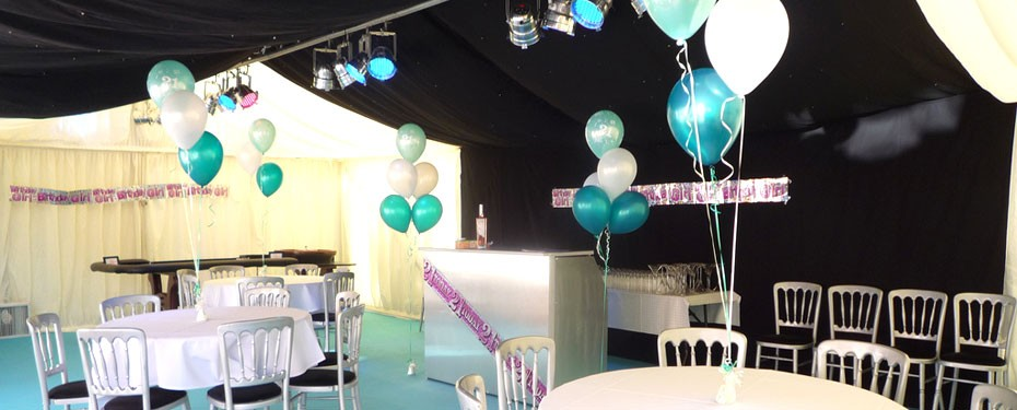 Marquee case study 21st birthday party tents and events for 21st birthday decoration packages