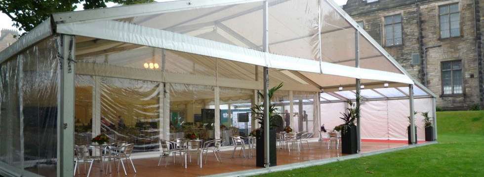 Entrance Canopy with Cafe Furniture