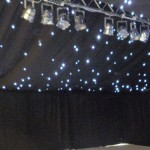 Black Starcloth with Entertainment Lighting