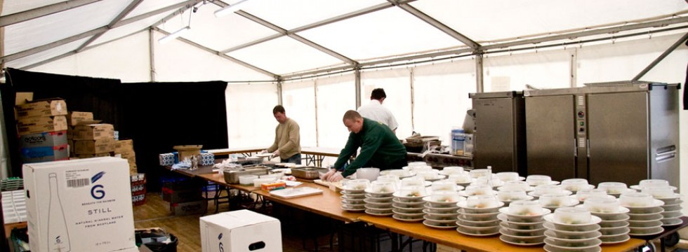 Marquee Kitchen Area