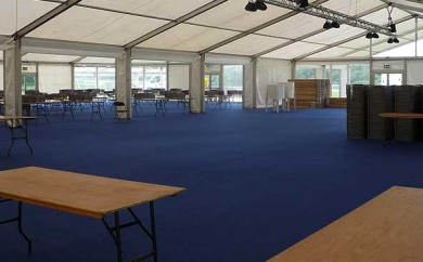Large marquee constructed for the International childrens games event