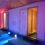 Toilet Marquee with feature lighting