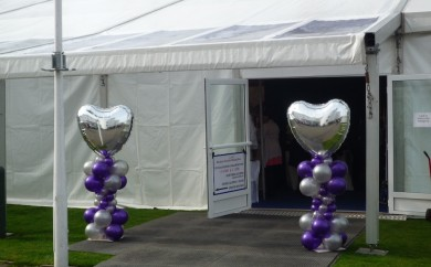 Wedding Fair marquee entrance at Hamilton Park Racecourse