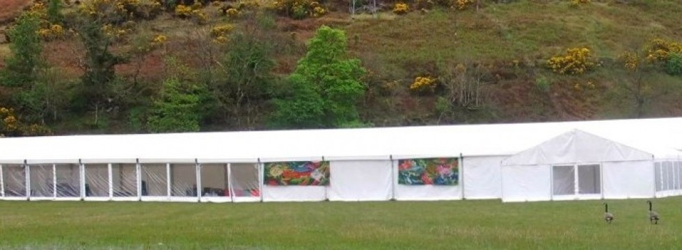 Marquee at Loch Fyne Foodfair