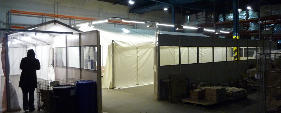 Warehouse marquee heating solution
