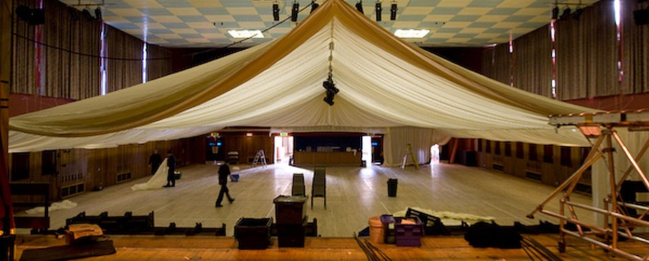 Royal National MOD interior marquee conversion