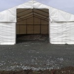 Temporary outdoor storage marquee