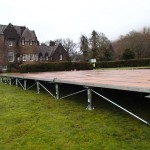Marquee Floorstak system showing flexible levelling system allowing our marquee to sit on almost any incline