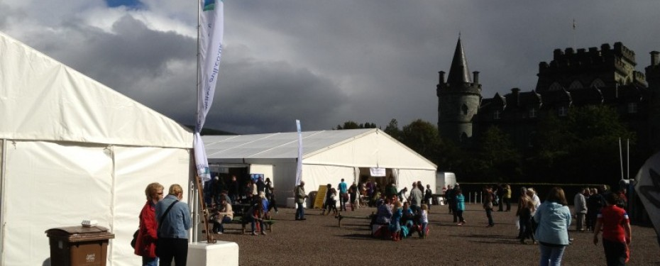Tents and Events marquees at Best of the West Festival, Inveraray Castle