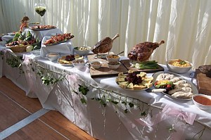 Marquee buffet catering from Avenu Catering