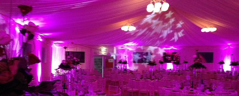 Dining options for corporate marquee hire