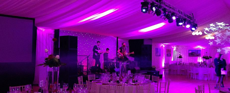 Corporate marquee hire dining area
