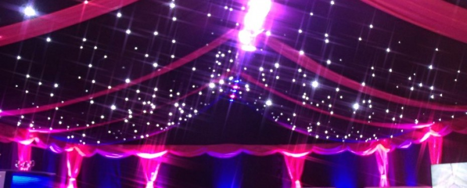 Marquee with ceiling lights