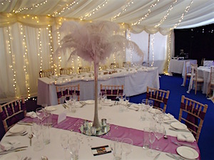 Wedding marquee table decorations