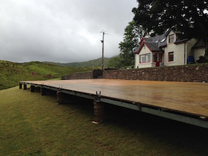 Marquee suspended flooring Tents and Events marquee hire Scotland