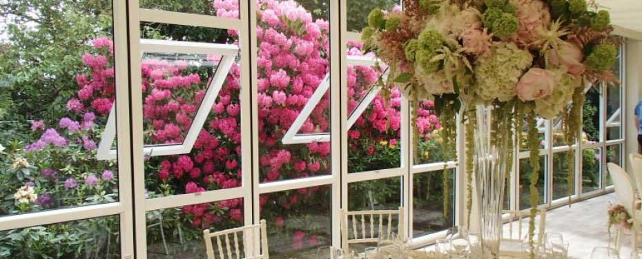 Solid Glazing with opening windows