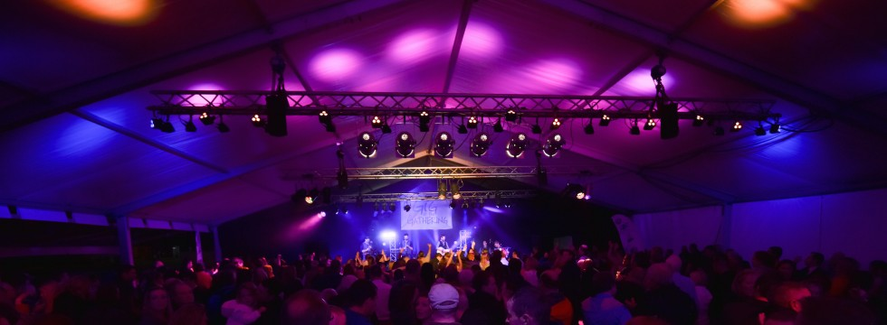 Gig at the Gathering 2016 marquee entertainment lighting