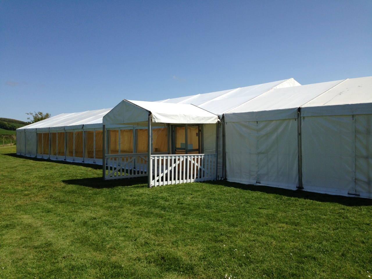 Wedding marquee with entrance, Isle of Bute