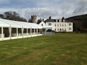 Wedding marquee at Knockdow House, Toward
