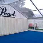 9m Marquee with Clear Roofs
