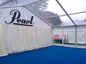 Marquee clear roof Pearl Drums World Pipe Band Championships