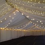 Pea Lamp Roof canopy combined with LED Festoons