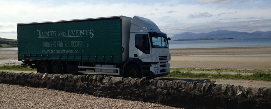 Tents and Events Truck at Strallis Ettrick Bay