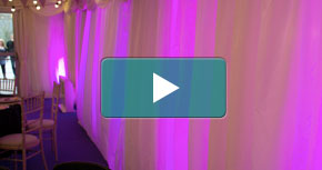 Watch our Marquee uplighting video