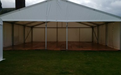 Largs Food Festival, marquee construction, Largs Live