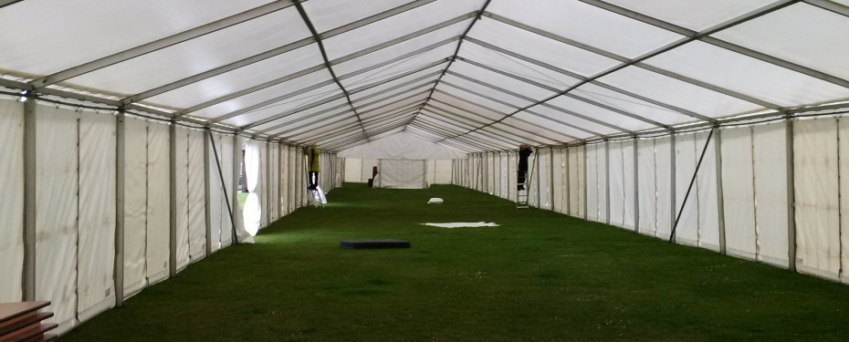 Largs Food Festival, Internal marquee construction