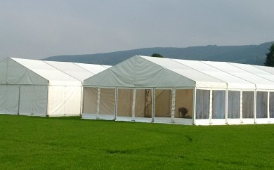 Newmilns Food Festival set of Marquee's, September 2016