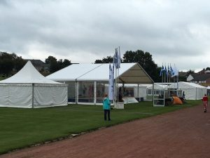 Marquees for Dancing platforms at the Cowal Highland Gathering 2016