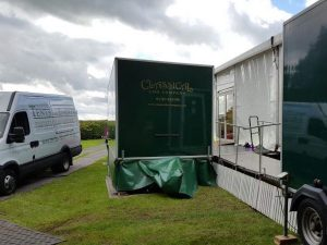 Family wedding Marquee Balfron luxury toilets disabled toilet trailer