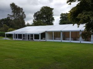 Family wedding Marquee Balfron marquee with canopy
