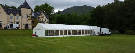 Wedding Marquee at Glenfinnan House Hotel