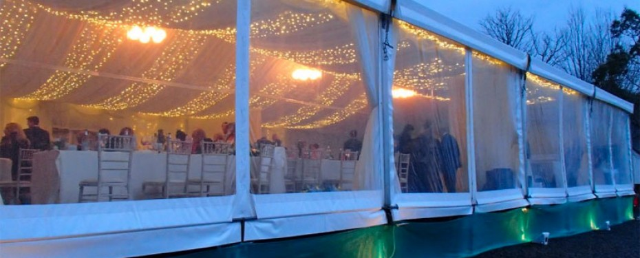 Marquee hire for winter weddings from Tents and Events