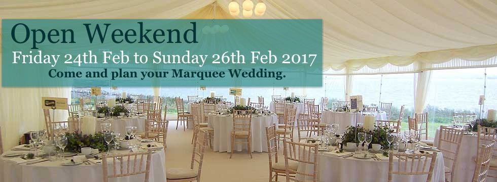 Wedding Marquee example for open day