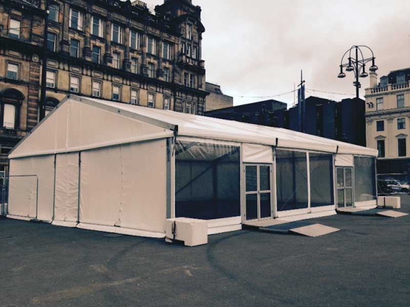 Marquee for Piping Live Glasgow 2016