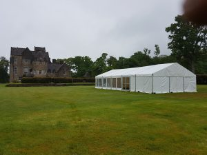 Wedding marquee at Ardkinglas House, Argyll