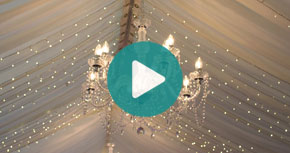 Watch our Chandelier and marquee lighting video