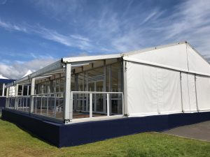 Gable view of the marquee