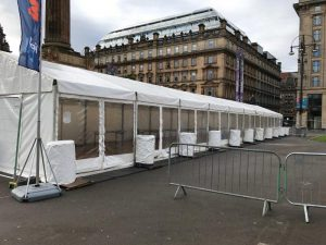 Pipers Market Marquee George Square Glasgow