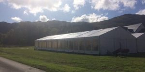 Carrick Castle wedding marquee Tents and Events